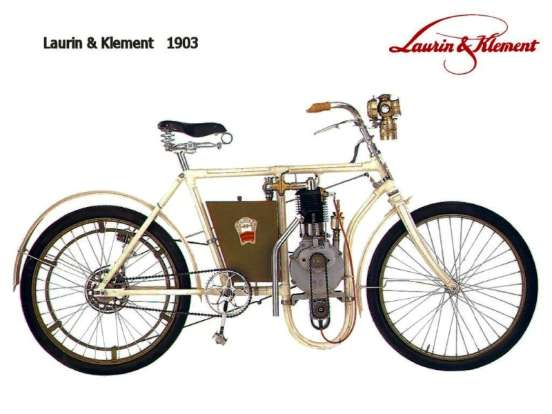 Велосипед производства Laurin&Klement в 1903 году